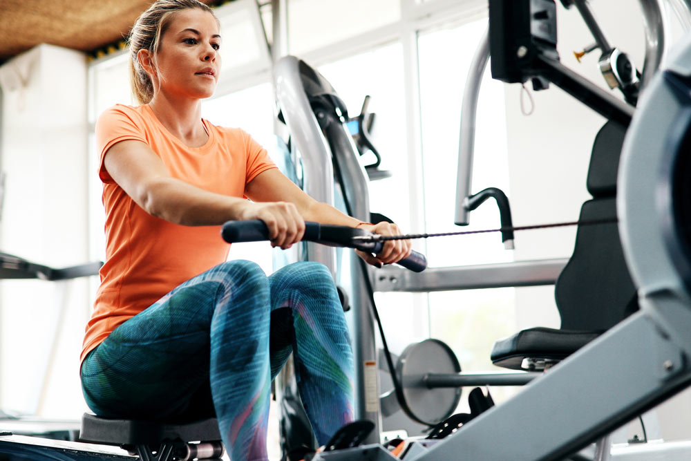 Woman-On-Row-Machine